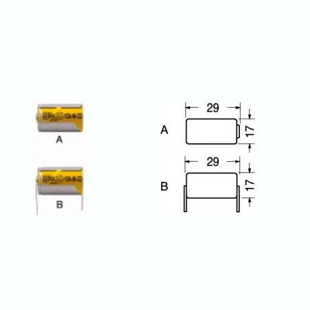 ACCUMULATORE NI-CD 2/3A+TERMINALI 1.2V600MA