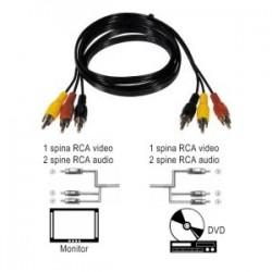 CAVO AUDIO/VIDEO WA122 3SP.RCA-3SP.RCA 3MT SCIOLTO
