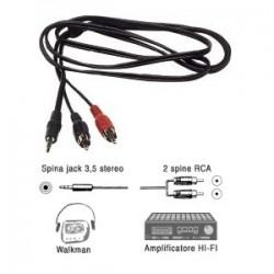 CAVO WA305 2 AUDIO RCA- JACK 3.5 STEREO 3MT