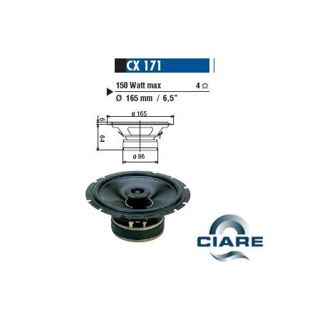 CIARE ALTOPARLANTE COASSIALE 165MM GOLF3 4OHM 150W