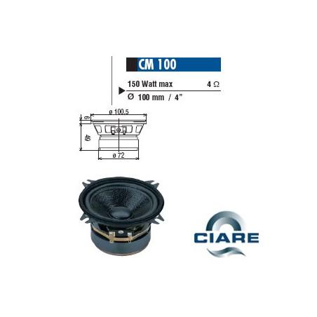 CIARE MID RANGE 100MM 4OHM 150W