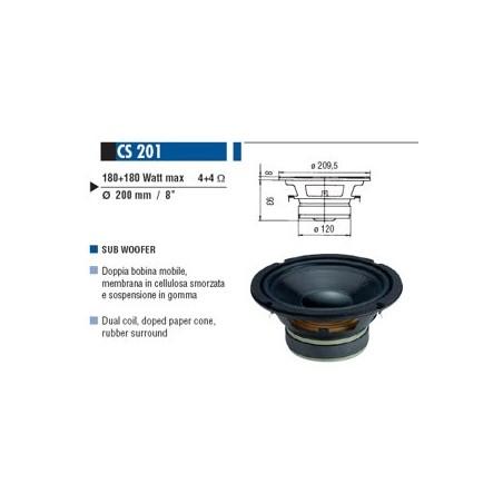 CIARE SUB-WOOFER 200MM 4OHM 180+180W