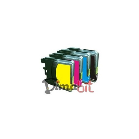 REFILL KIT 4 CART.COMP.PER BROTHER LC980 BK+C+M+Y