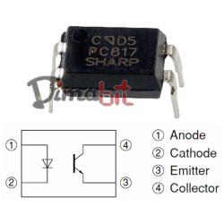 OPTOISOLATORE PC817=LTV817=TCET110G 2+2 PIN
