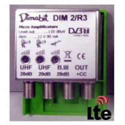 DIMABIT AMPLIF.2UHF+1BIII 20DB REG. AMD2/R3 LTE