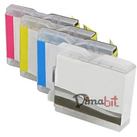 REFILL KIT 4 CART.COMP.BROTHER LC123X 1XCOLORE
