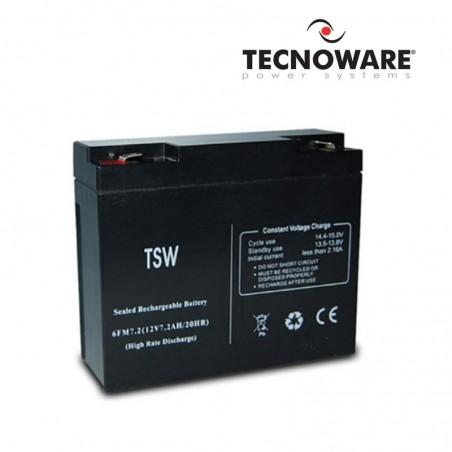 TECNOWARE BATTERIA 12V 7.2AH PER UPS EVO RT 2.0/3.