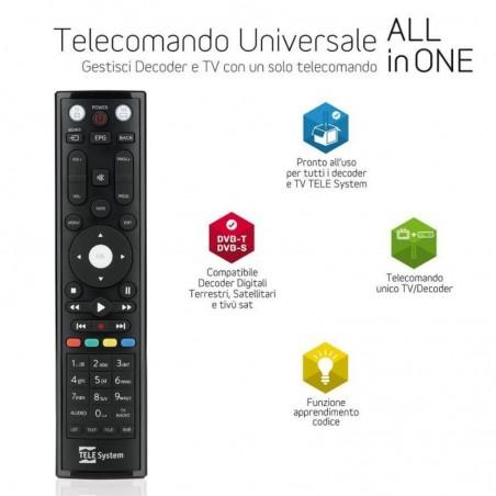 TELESYSTEM TELECOMANDO UNIVERSALE TV/DEC. 2IN1