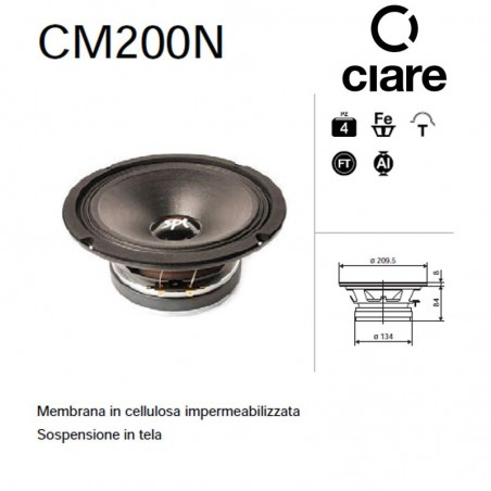 CIARE CM200N MID RANGE 8 200MM 4OHM 250W