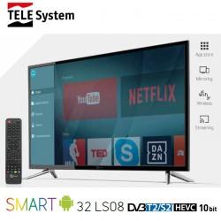 TELE SYSTEM SMART 32LS08 TV LED DVBT2/S2 10BIT