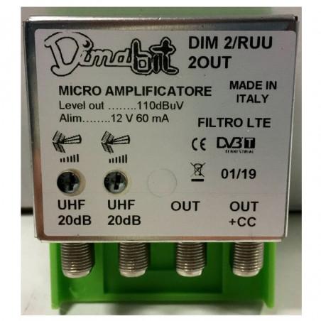 DIMABIT AMPLIFICATORE DA PALO 2UHF 20DB 2OUT LTE
