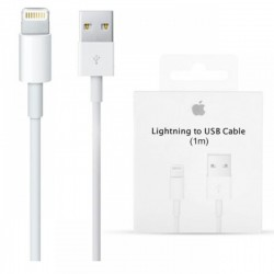 APPLE CAVO LIGHTNING A USB 1MT. BIANCO ORIGINALE