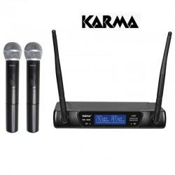 KARMA  SET 6092B DOPPIO RADIOMICROFONO VHF 183.57M