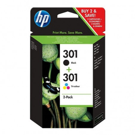 HP CARTUCCE ORIGINALI 301 INK KOMBO PACK