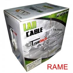 CAVO LAN FTP CAT. 6 GREY 100MT. RAME 0.57MM.
