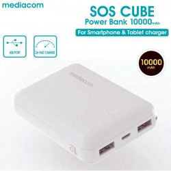 MEDIACOM SOS CUBE POWER BANK 10000MAH  M-PB100RCW