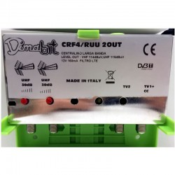 DIMABIT CENTRALINO DA PALO CRF4/RUU 30DB REG 2OUT