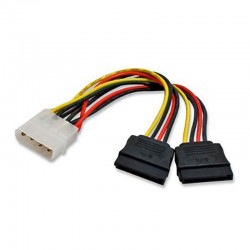 CAVO MOLEX M 4 PIN TO 2 SATA F 15 PIN 15CM.