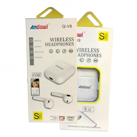 AURICOLARI WIRELESS BLUETOOTH 10MT. 5HOURS - Q-V8