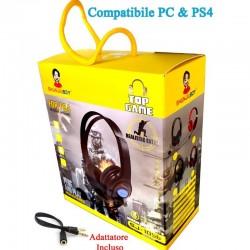 CUFFIA COMP.PS4 & PC CON MICR.WIRED 3.5MM 1,2MT.