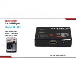 SWITCH HDMI 3D-3INGR1080P+ TELEC X TV PS3 XBOX DVD