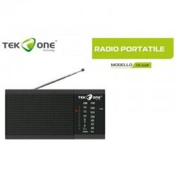 TEKONE RADIO FM/AM A BATTERIE CON JACK CUFFIA